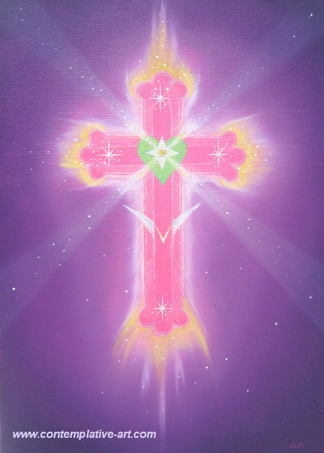 le septieme rayon d'ALCHIMIE SPIRITUELLE ET LE FEU VIOLET Croix_rose-violette